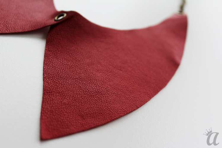 red leather necklace (detail)
