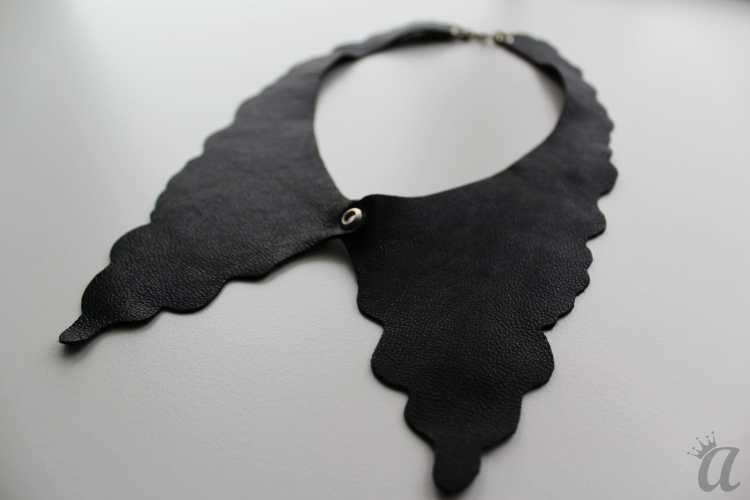 vintage leather necklace (detail)