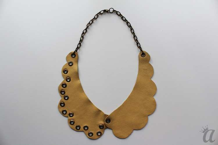 yellow leather necklace