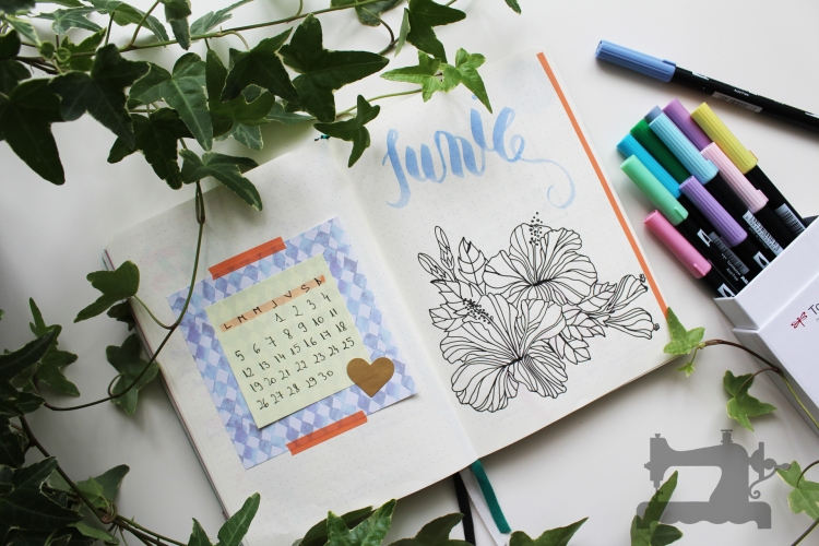 philodendron theme bullet journal