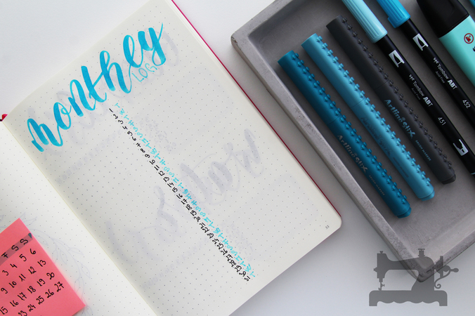 Bullet Journal – set-up pentru luna August12
