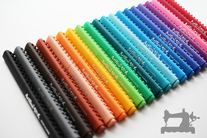 artline stix brush markers1
