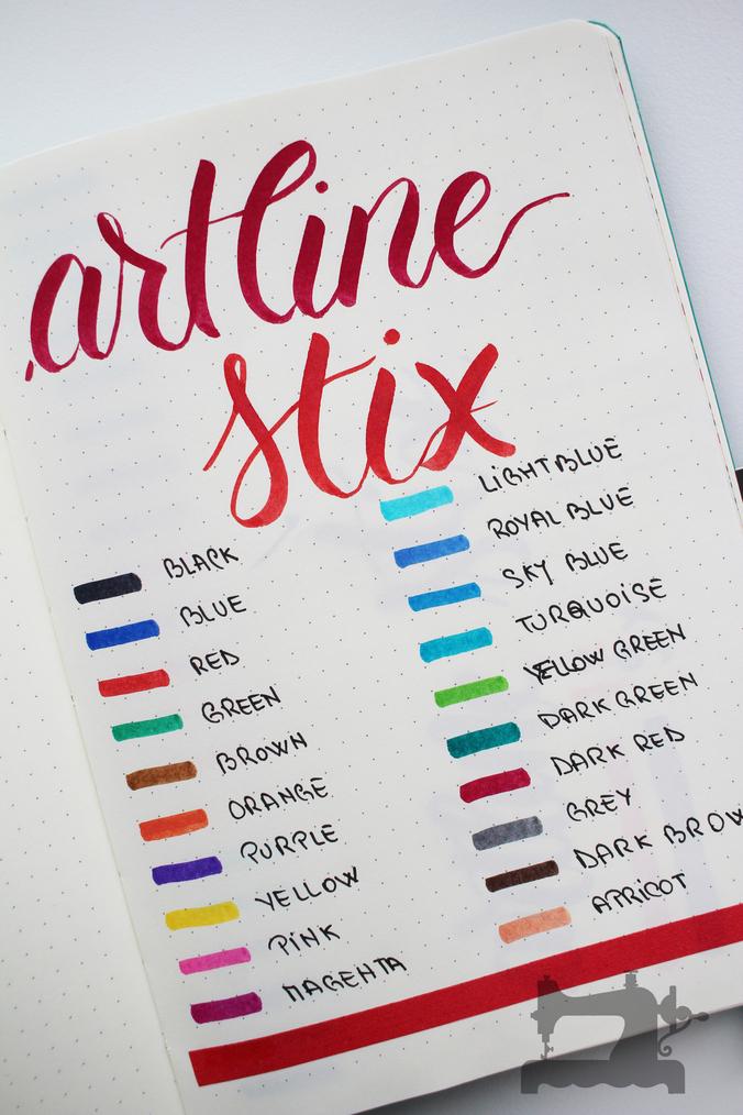 artline stix brush markers11