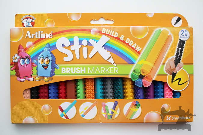 artline stix brush markers5