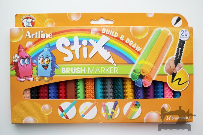 artline stix brush markers5