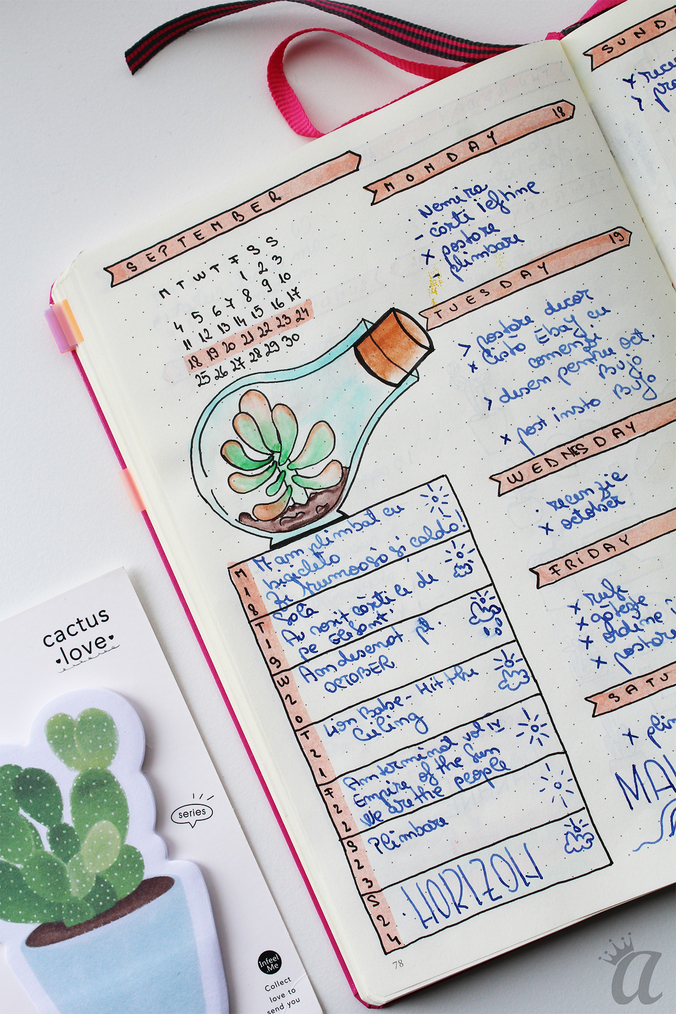 Flip through Bullet Journal september7