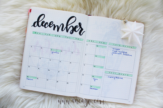 Bullet Journal – set-up pentru luna Decembrie15