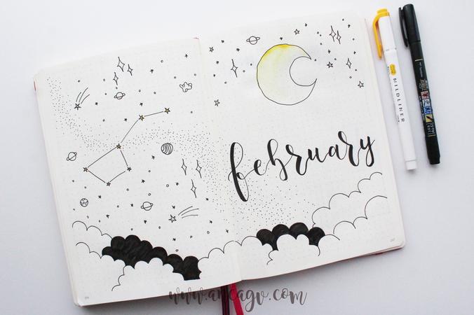 Bullet Journal – set-up pentru luna Februarie15
