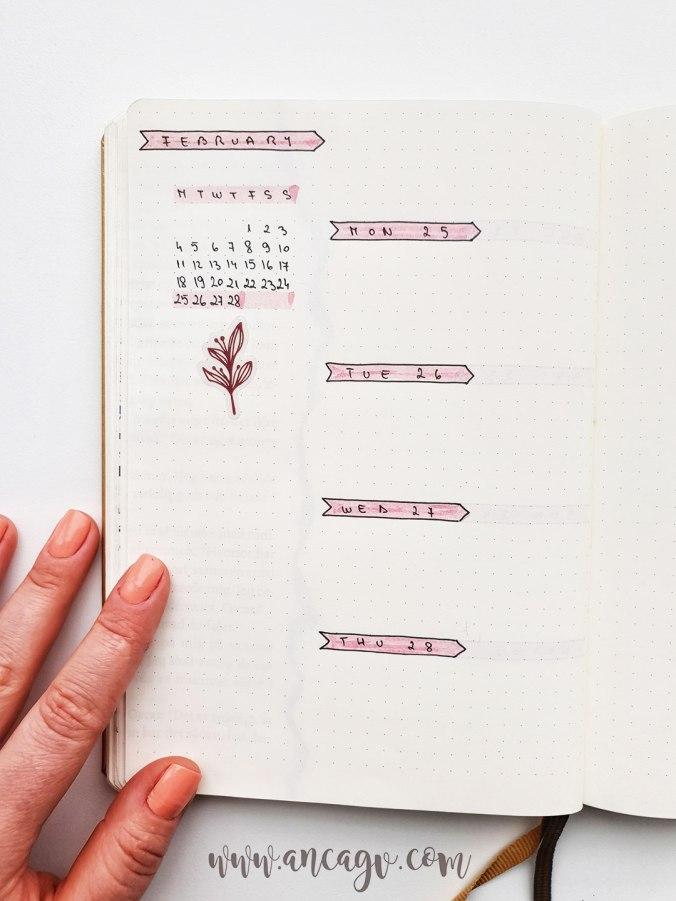 bullet-journal-set-up-for-february-16