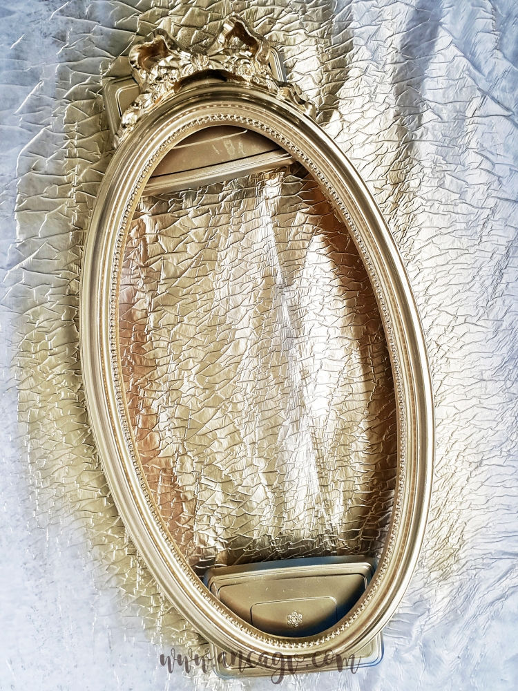 restaurarea unei oglinzi cu rama vintage4