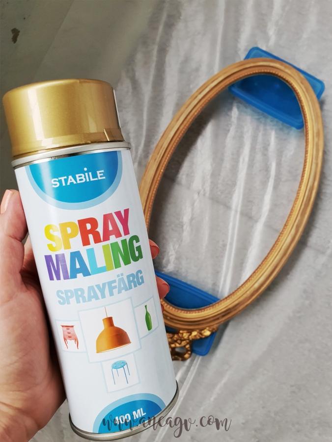 restaurarea unei oglinzi cu rama vintage5
