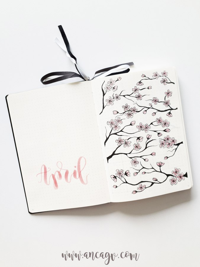 Bullet-Journal-–-set-up-for-April-20196