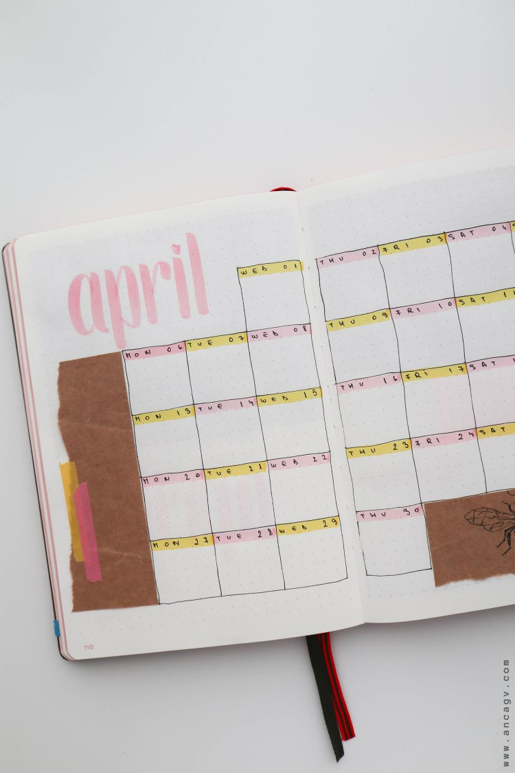 Bullet-Journal-–-set-up-for-April-2020-7