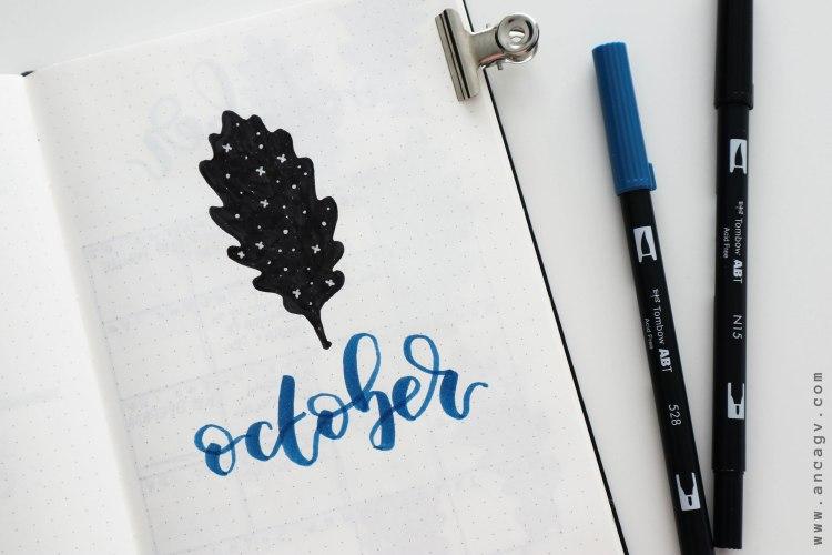 Bullet-Journal-–-set-up-for-October-2019-11