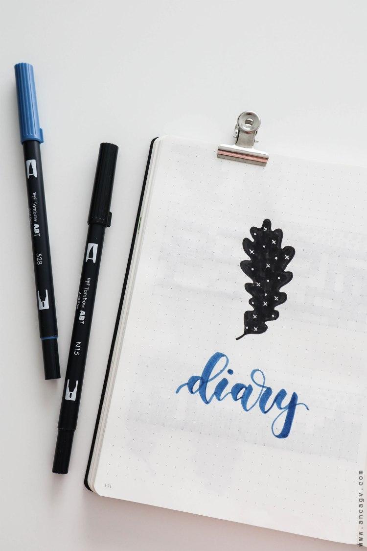 Bullet-Journal-–-set-up-for-October-2019-2